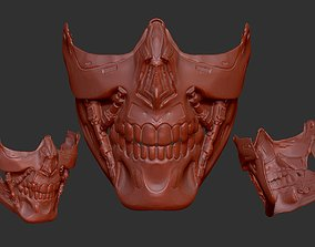 terminator t800 inspired facemask 3D print model