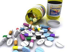 3D asset Medicine Bottle