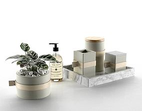 3D Composition Vase Tray and Jars