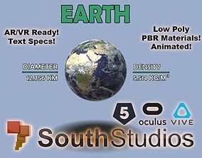 animated game-ready Animated Earth AR VR Unity 3dsmax