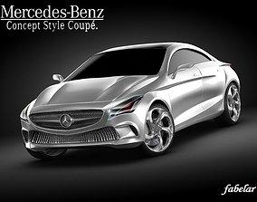 3D model Mercedes Concept style coup