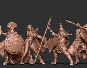 Spartan bundle I - 4 miniatures 35mm 3D printable model