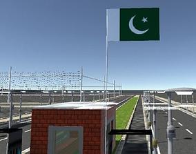 3D asset Pakistan Green Flag