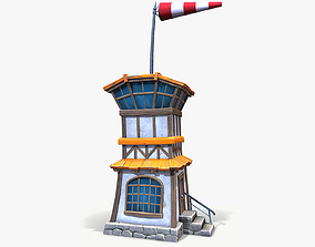 3D model Cartoon Air Control Tower