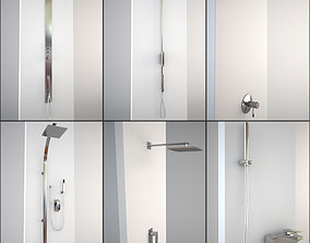 3D model modern 6 Showers Collection