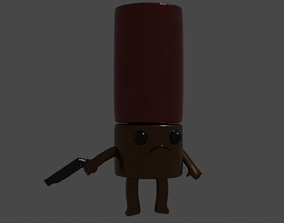 Enter in the gungeon enemy character bullet 3D