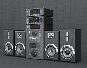 HI-FI mini audio components 3D asset