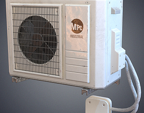 Air conditioner 3D asset low-poly