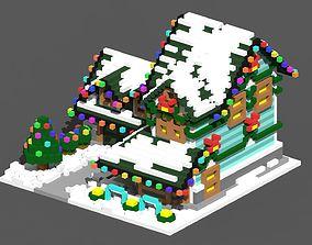 Xmas House Voxel - 8 3D asset