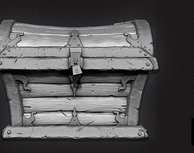 3D Fantasy Treasure Chest - High Poly