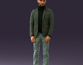 Man in gray top whire gray 0613 3D print model