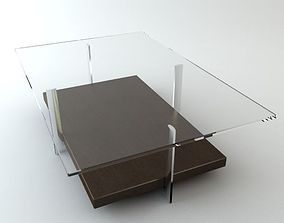 3D model Contemporary Table Glass Top 2