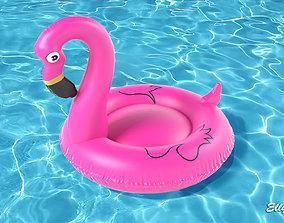 3D asset Pink Flamingo
