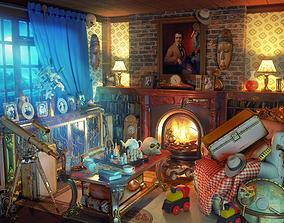 Fireplace Hidden Object Game Location 3D