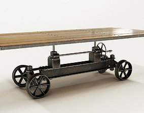 3D model PBR Train Crank Table