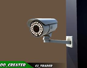 realtime CCTV Camera low poly 3d model