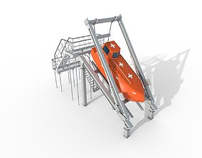 FREE-FALL LIFEBOAT 3D asset