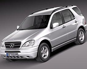 3D model Mercedes M-class W163 1997-2005