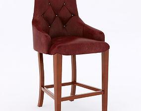leather bar stool 3D model