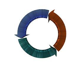 Arrows recycling 15 3D