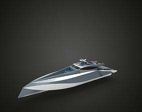 fast luxury yacht 3D model vessel