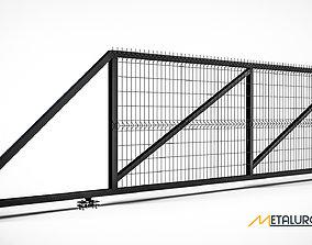 3D Sliding Gates made in Solidworks