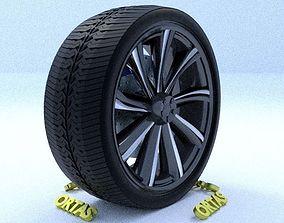 3D model ORTAS CAR RIM 59 GAME READY RIM TIRE AND DISC