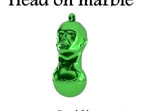 3D print model head on a marble