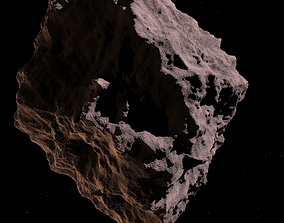 3D model game-ready Asteroid