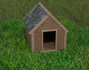 low-poly Kennel - Doghouse 3D low-poly model