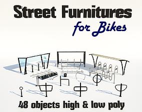 Street furnitures for bikes 3D
