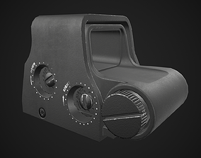 EOTech Holographic Red Dot Sight Game Ready 3D model