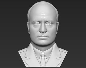 Benito Mussolini bust 3D printing ready stl obj formats