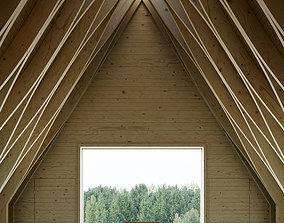 Minimalist Wooden Chapel 3D