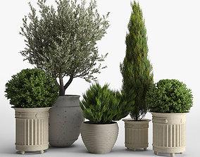 3D model prescott planter set