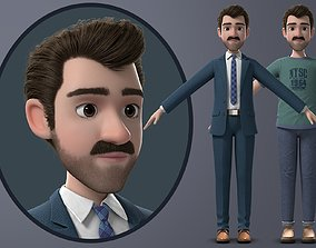3D model PBR Cartoon Man