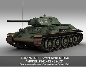 T-34-76 - STZ - Model 1941 -Soviet medium tank - 32-12