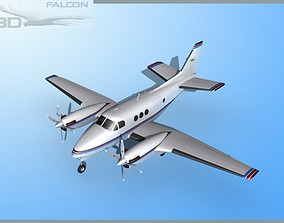 Falcon3D E90 King Air F04 rigged