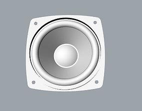 Full range speaker 3D model range-rover
