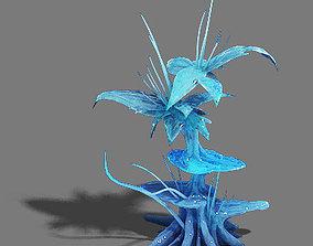 Ice and snow - ice tree mushroom 3D