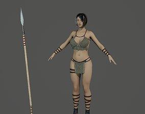 Amazon Warrior 3D Model rigged
