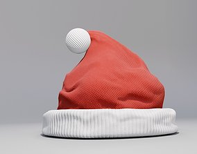 santa claus Christmas Hat 3D