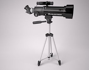 3D asset Celestron 70mm Travel scope telescope