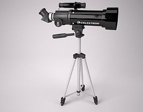 3D asset Celestron 70mm Travel scope telescope