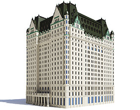 Large Hotel 3D Model