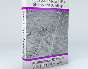 3D model South Los Angeles Streets and Buildings