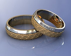 brutal Wedding Brutal Rings 3D print model