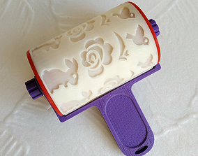 Rolling pin with an Easter pattern 3D print model