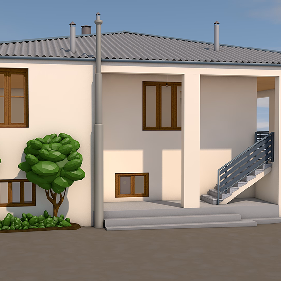 Low-poly house