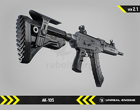 3D model AK105 - Animated FPS Weapon for Unreal Engine